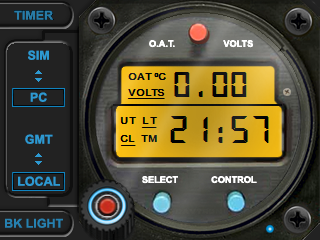 Clock & Timer with OAT & Volts - Digital