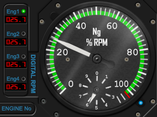 Ng % RPM (Turbo Props & Jets)