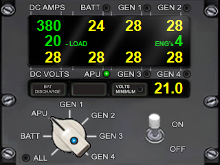 Volt - APU and Generator Gauge